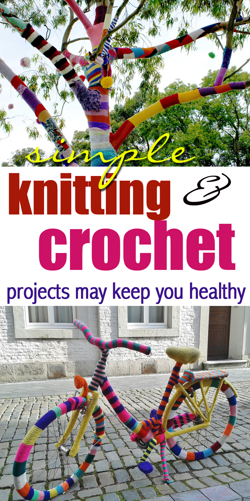 simple knitting and crochet projects may keep you healthy by craft-mart