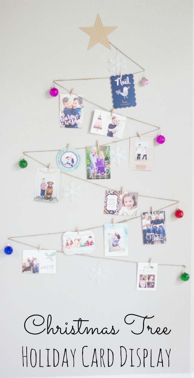 Homemade Christmas Decoration Ideas - holiday cards display, cmas decorations, handmade Christmas decorations, christmas decoration ideas diy, christmas house decorations inside, christmas decoration ideas pinterest, indoor christmas decorations, #christmasdecorationideas