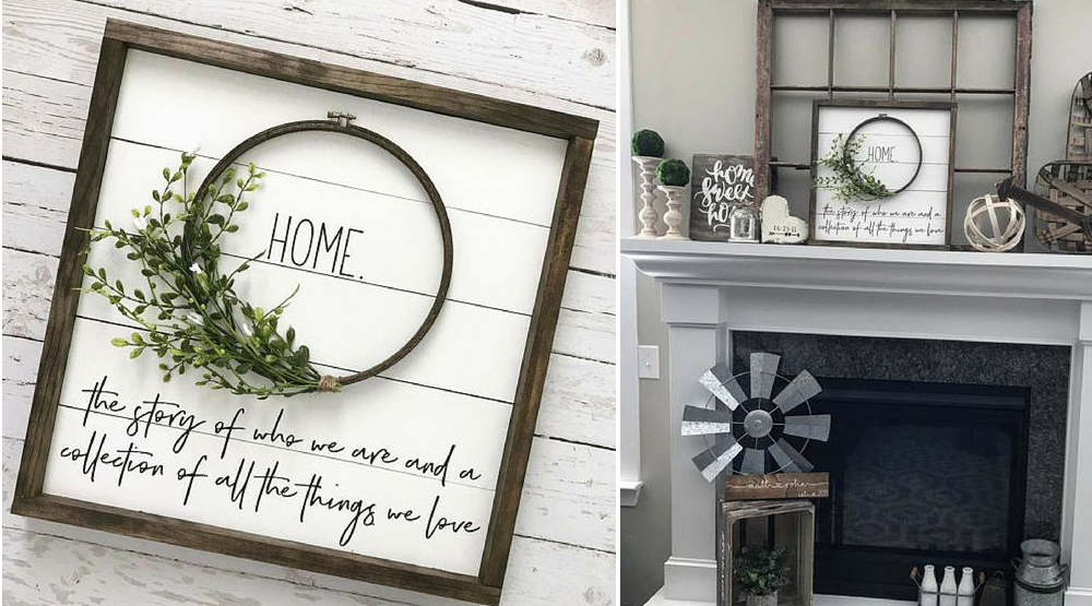 DIY rustic walldecor wreath inspirational sign craft-mart