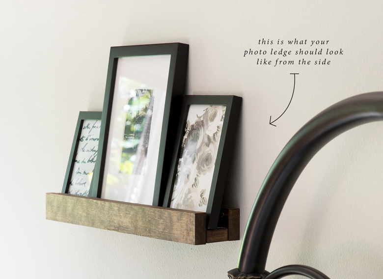 DIY projects to add farmhouse decor Easy photo ledge craft-mart