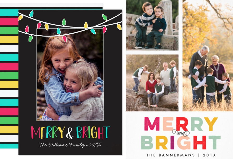 Merry & Bright Photo Christmas Cards Ideas craft-mart
