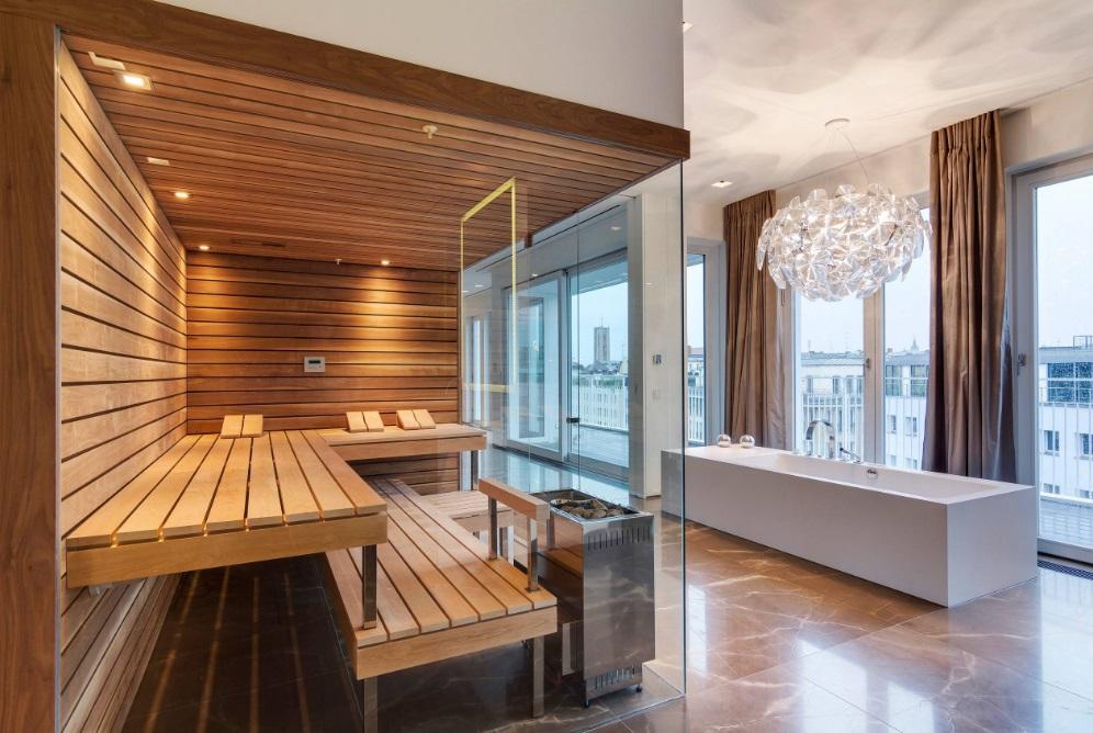 Modern infrared sauna