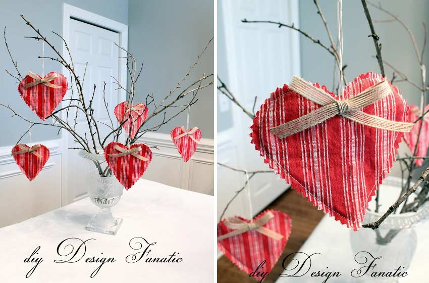 Easy Valentine Day Home Décor by craft-mart.com vintage hearts