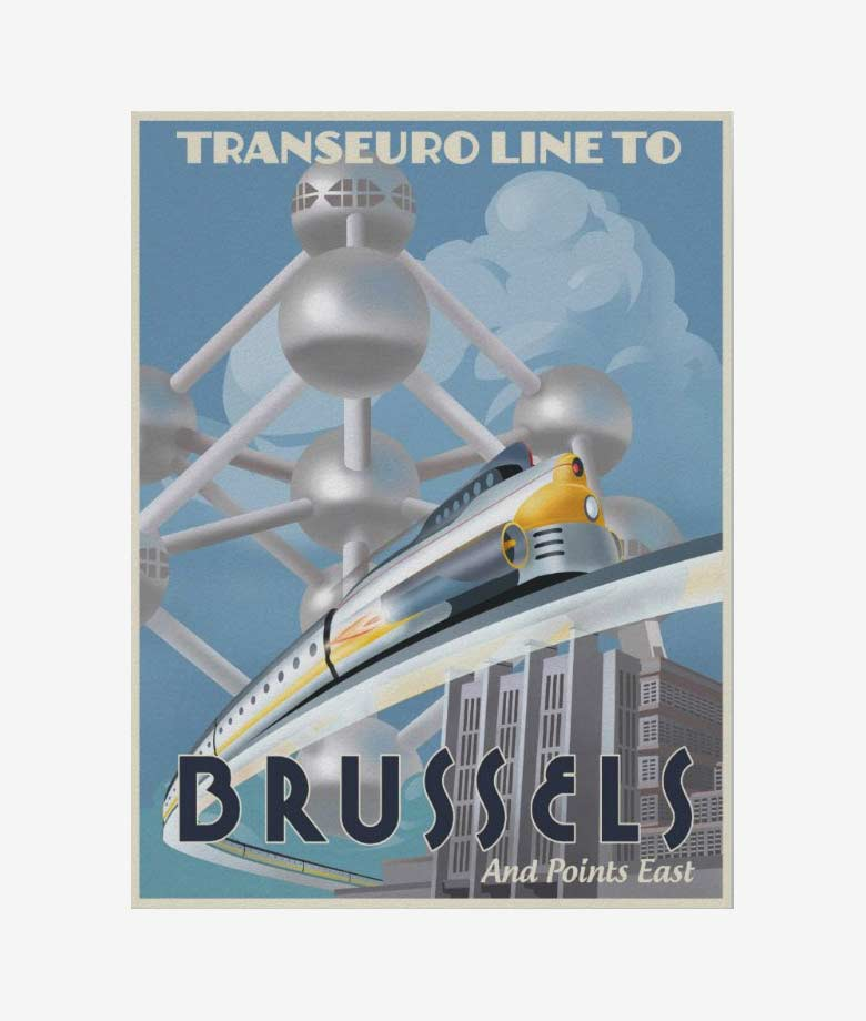 train through europe of the future poster