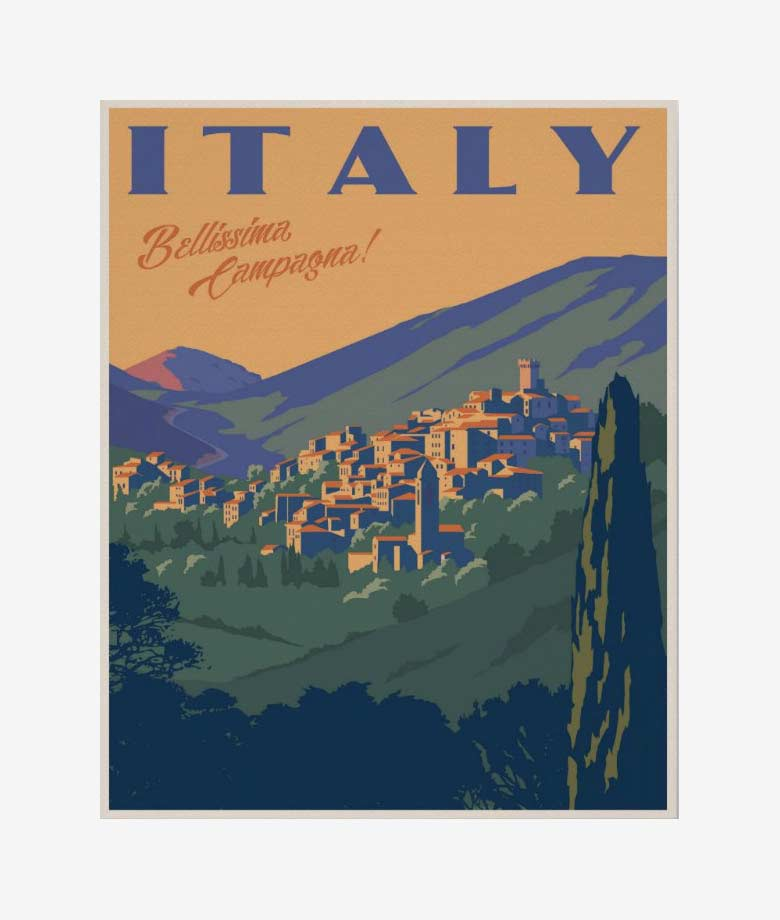 beautiful italian countryside poster