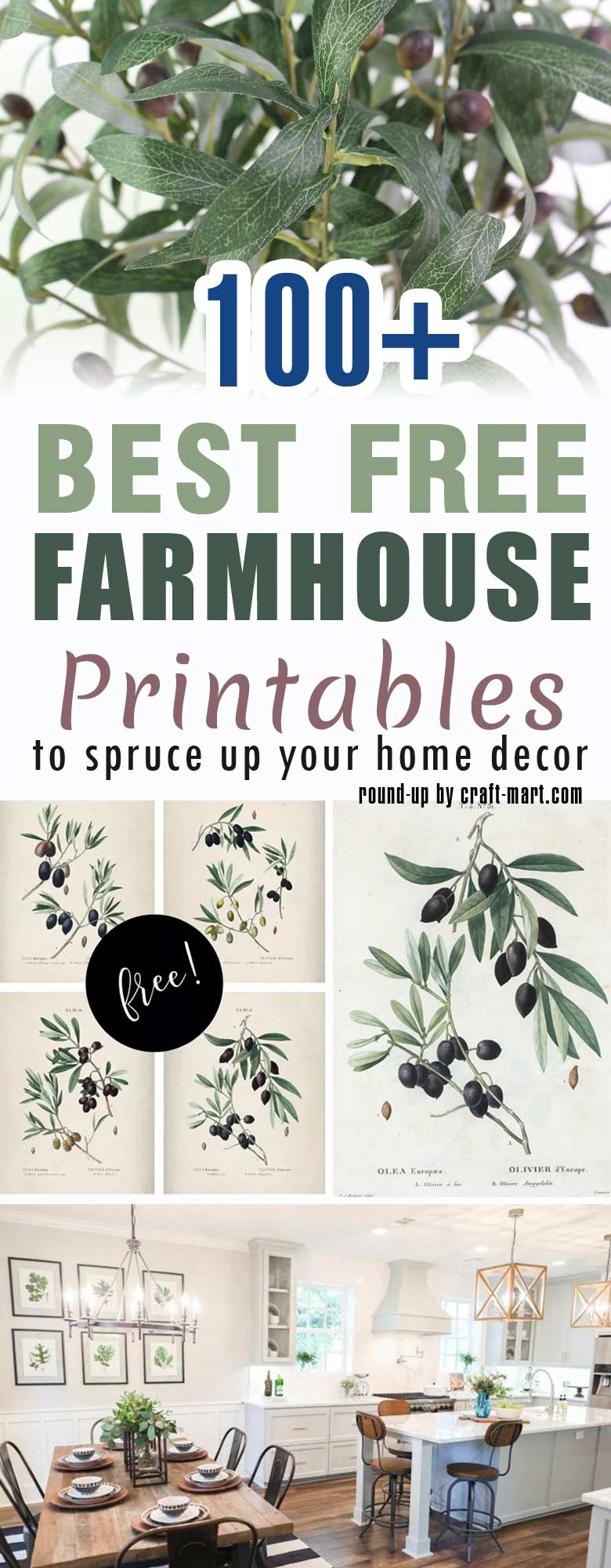 100 best free farmhouse spring printables to spruce up your home decor by craft-mart.com