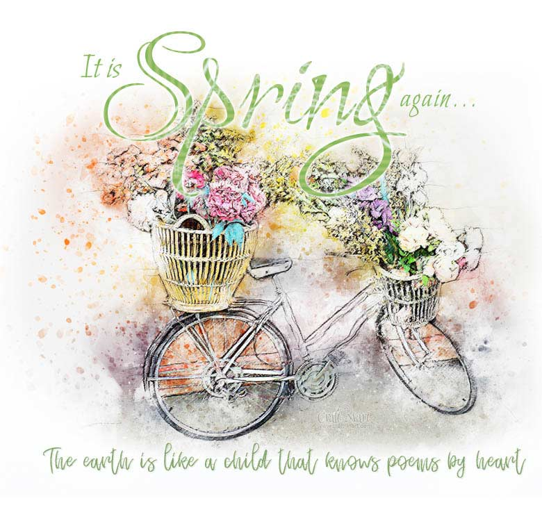 it's spring again free printable download with a quote