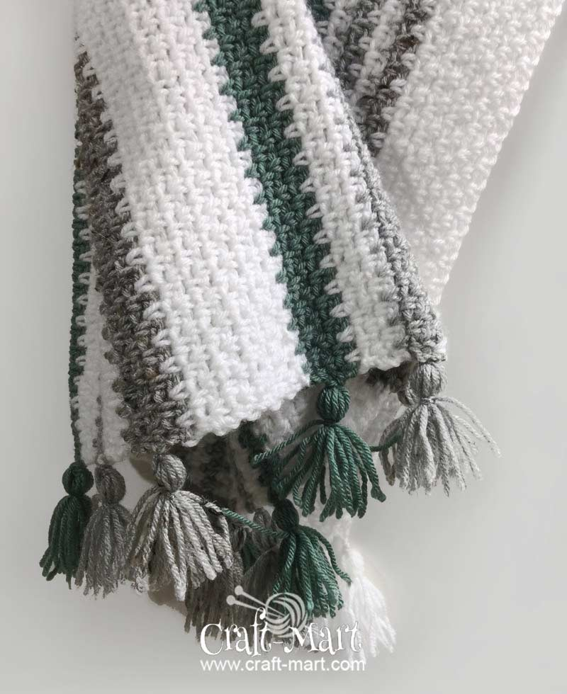 easy to crochet moss stitch woodlands blanket by craft-mart