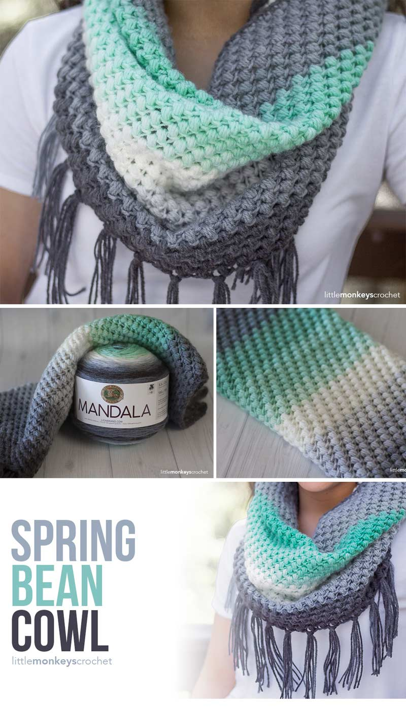 Easy Crochet Projects - bean cowl using Lion Brand Mandala yarn