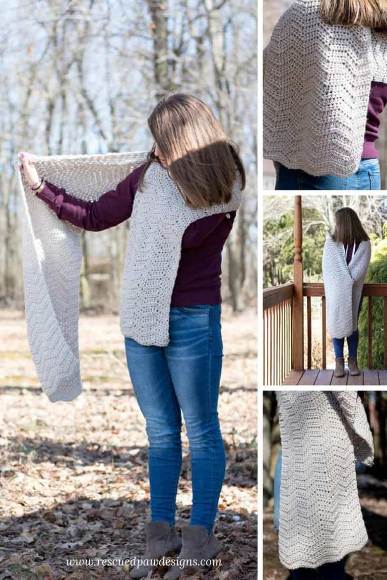 Easy Crochet Projects - ISLE WAVE CROCHET WRAP FREE PATTERN