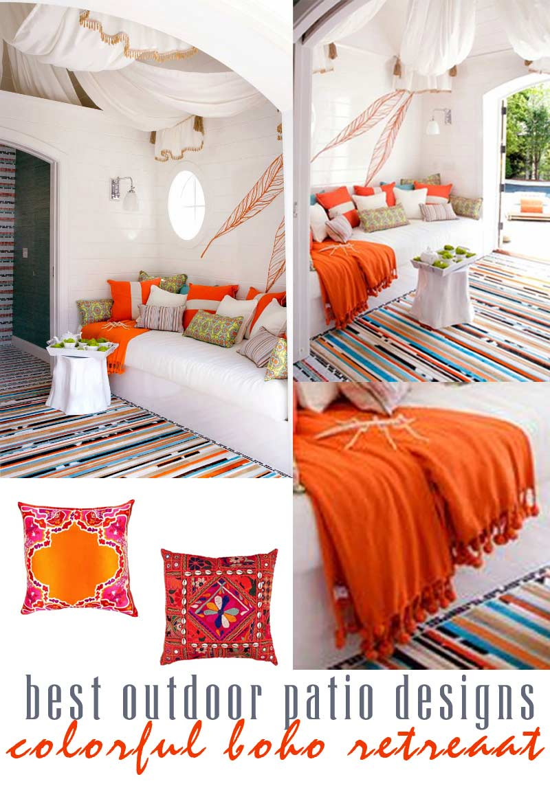 artistic boho retreat - best outdoor patio designs by craft-mart