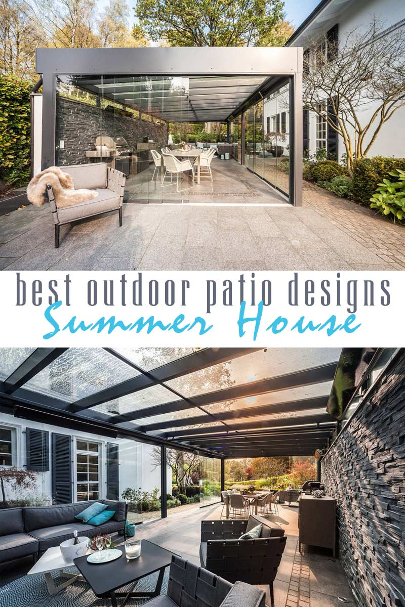 Contemporary Summer-Winter House - best outdoor patio designs collection by craft-mart