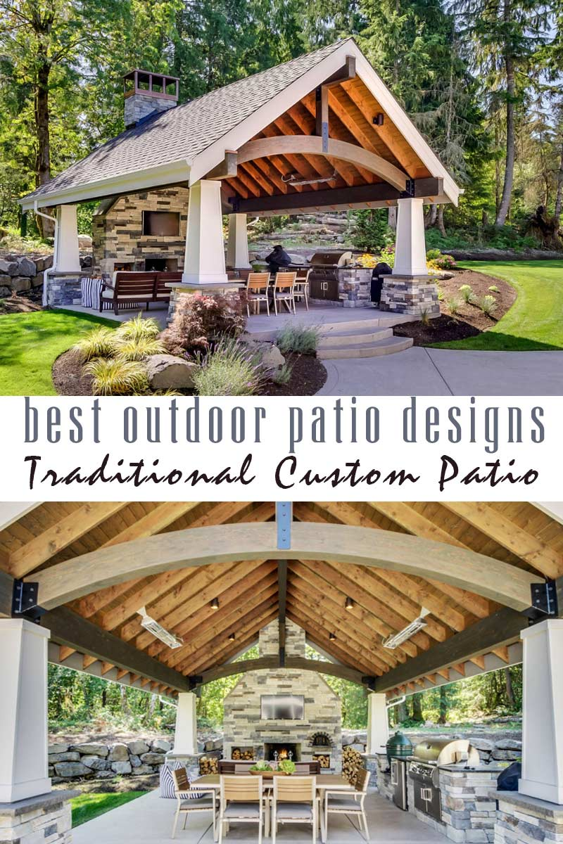 traditional custom patio - best outdoor patio designs collection by craft-mart