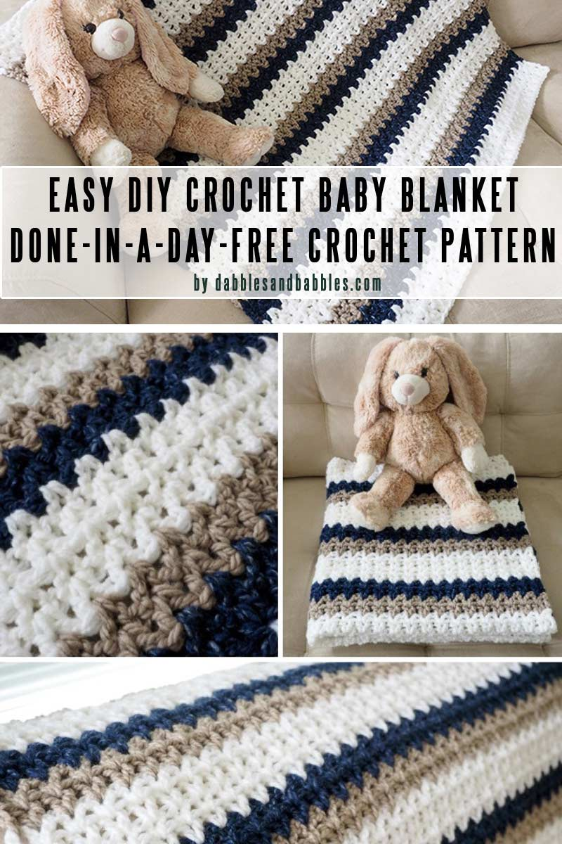 EASY DONE-IN-A-DAY CROCHET BABY BLANKET DIY baby blankets you can crochet in a weekend by craft-mart