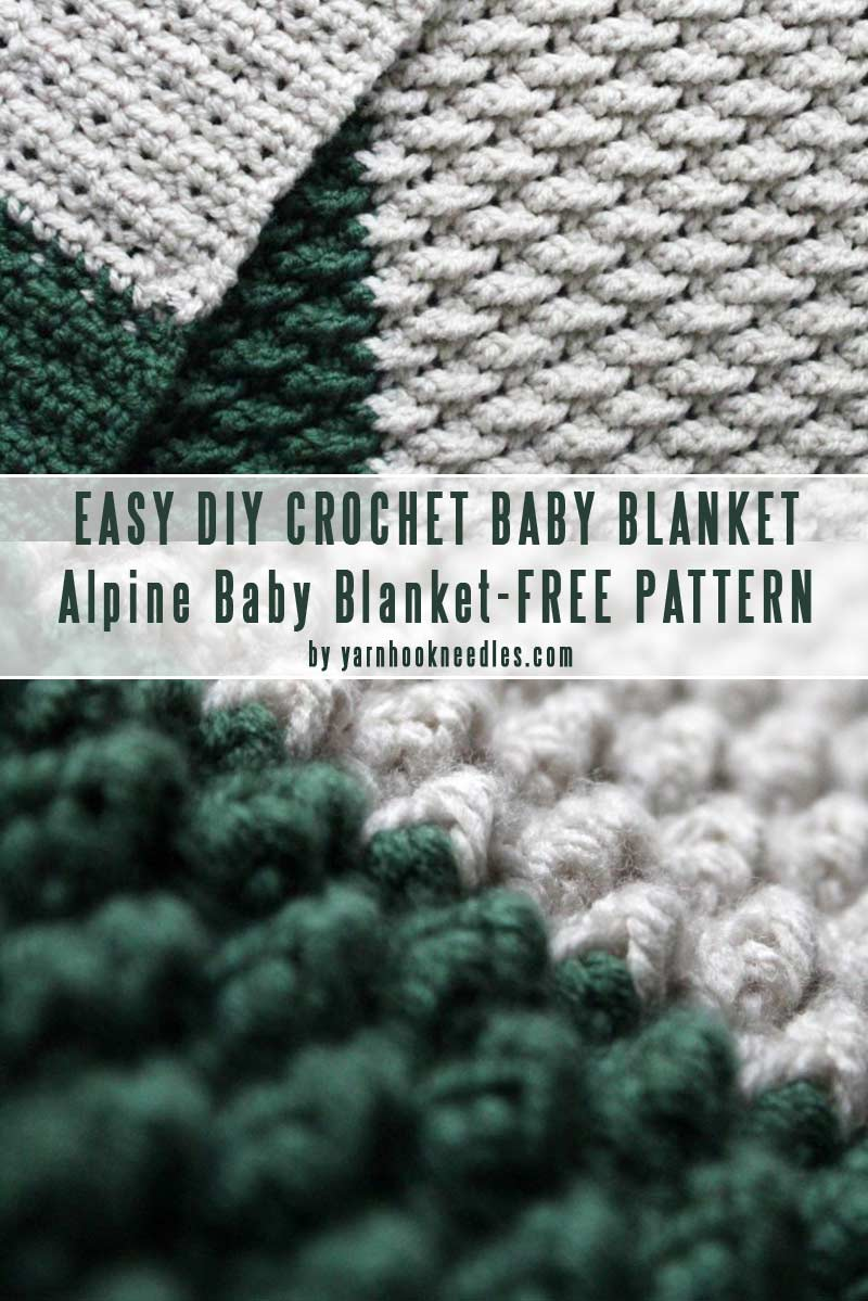 The Alpine Baby Crochet Blanket FREE Pattern-Easy DIY baby blankets you can crochet in a weekend collection by craft-mart
