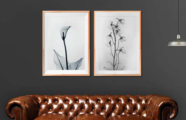 Free printable floral wall art - x-ray flowers