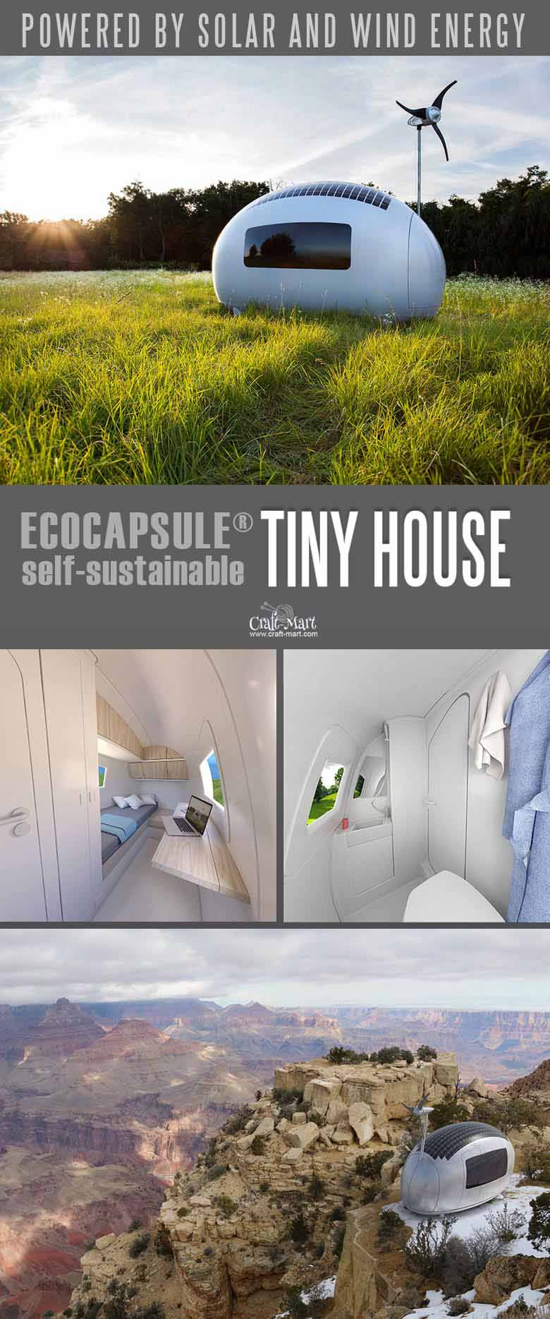 wind and solar powered tiny house - 100% sustainable and doesNOT need any utilities besides internet connection! Keep dreaming about your perfect tiny house or take an action and get one of these little affordable homes! #tinyhouseplans #tinyhome #tinyhouses #realestate #smallhouseplans