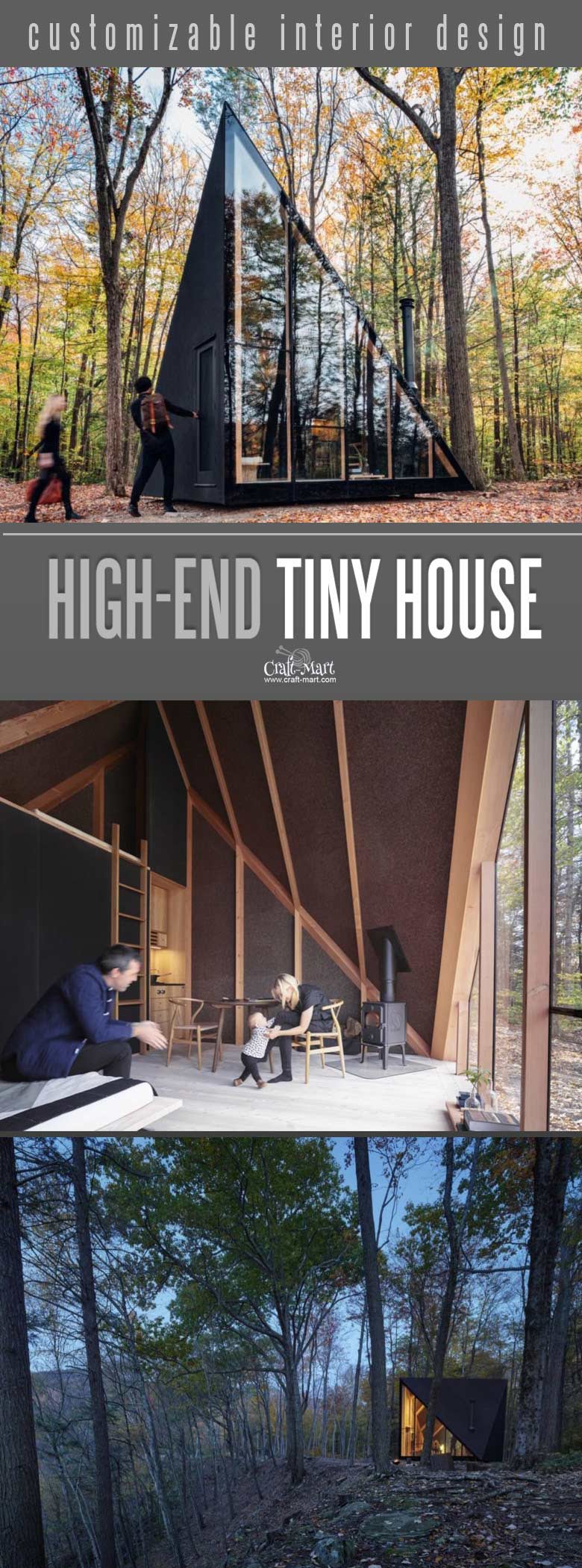 Look at this absolutely awesome High-end custom tiny house that you can afford! You can add custom features from most of the tiny home builders. Keep dreaming on or take an action and get one of these little affordable homes!#tinyhouseplans #tinyhome #tinyhouses #diywoodcrafts #diyproject #realestate #smallhouseplans