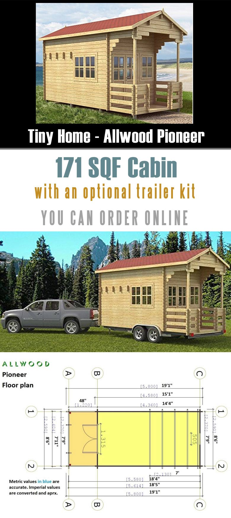 This is one of prefab tiny trailer houses that you can order from Amazon.