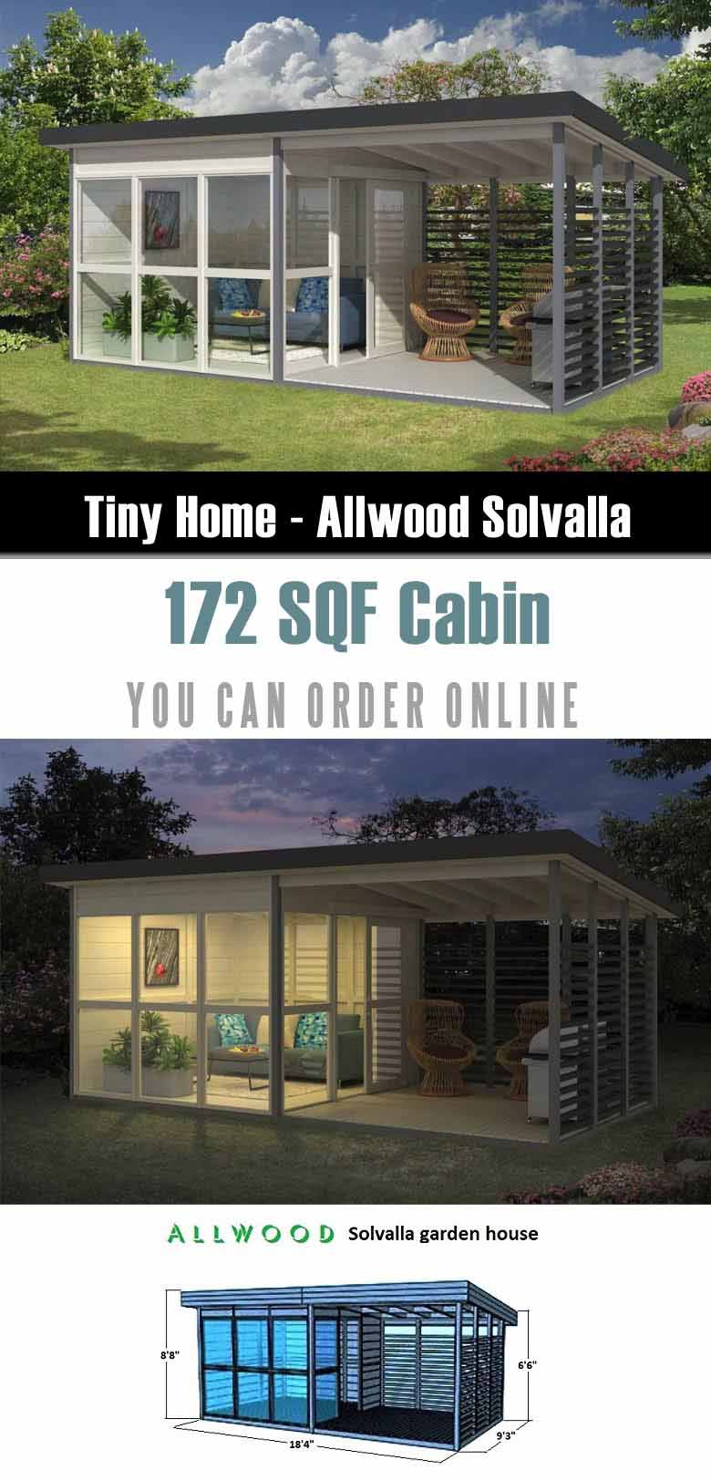 This is on of prefab tiny houses that you can order from Amazon.