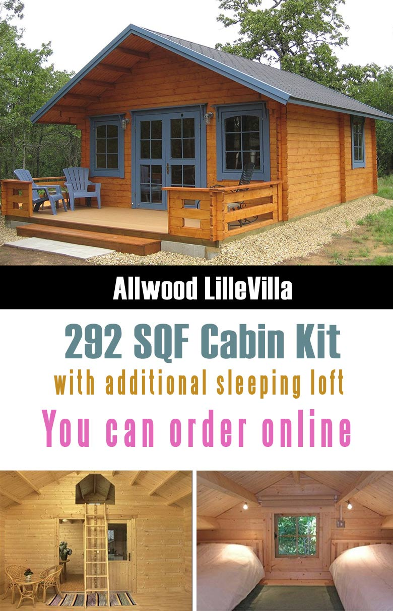 Allwood Lillevilla Cabin is one of the cutest and really affordable prefab tiny houses that you can order from Amazon.