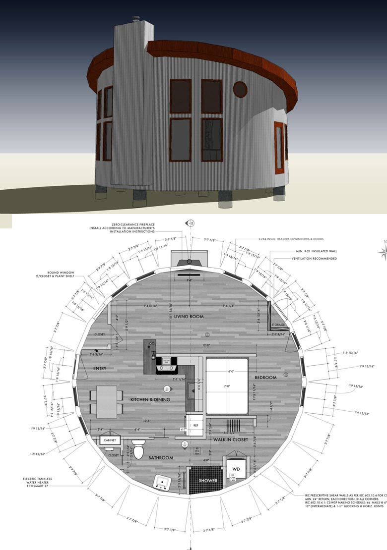 Awesome Round Tiny House Floor Plan For Building Your Dream Home Without Spending A  Fortune. Your