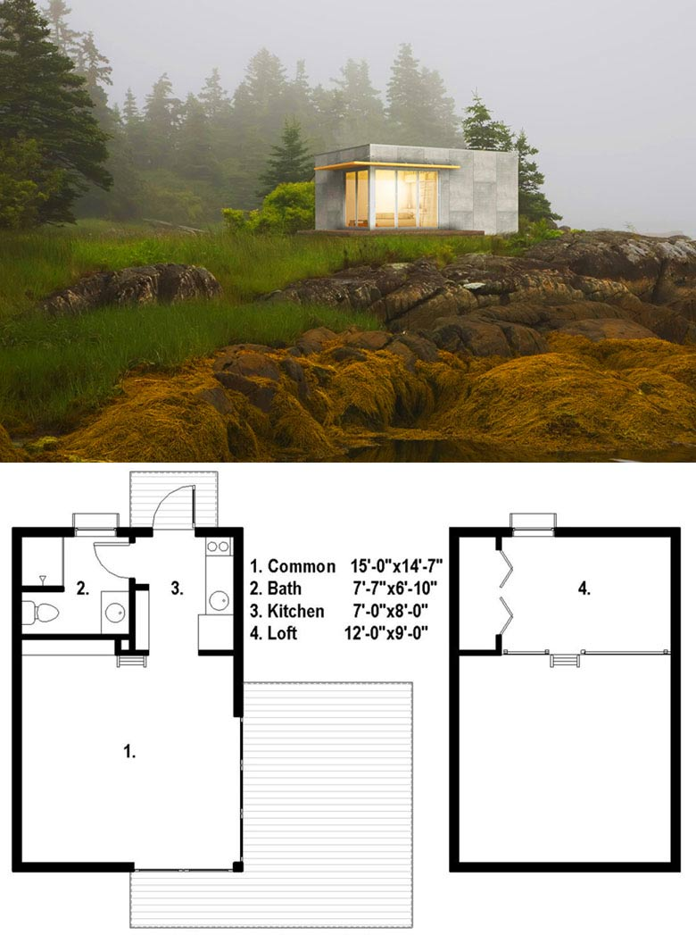 House Plan Small Home Design: 27 Adorable Free Tiny House Floor Plans