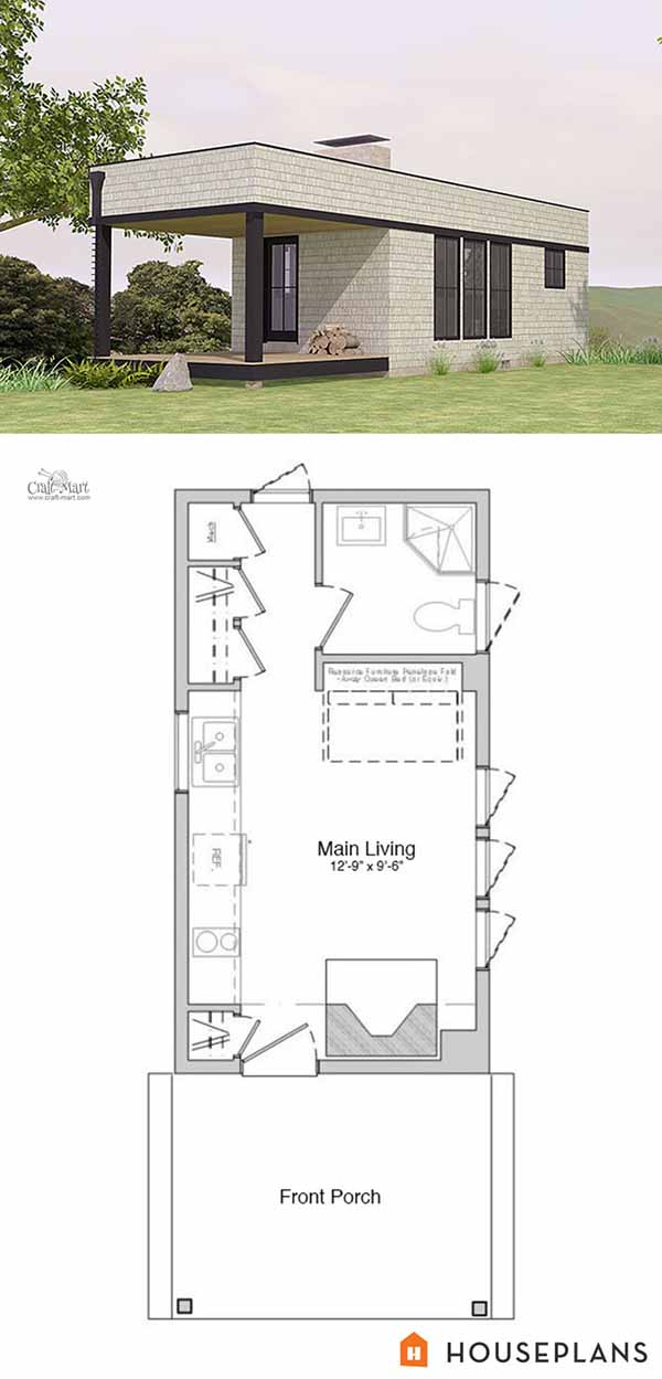 Moderna Tiny House Floor Plan For Building Your Dream Home Without Spending  A Fortune. Your