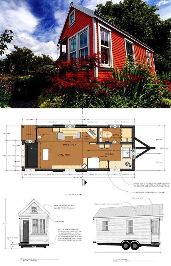 Tiny Home Designs: 27 Adorable Free Tiny House Floor Plans