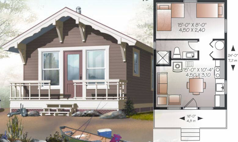 Sunrise Catcher tiny house floor plan for building your dream home without spending a fortune. Your tiny house doesn't have to be ugly or weird - just look at these architectural masterpieces! Chose from traditional plans to mobile tiny house plans that will allow you to change your lifestyle