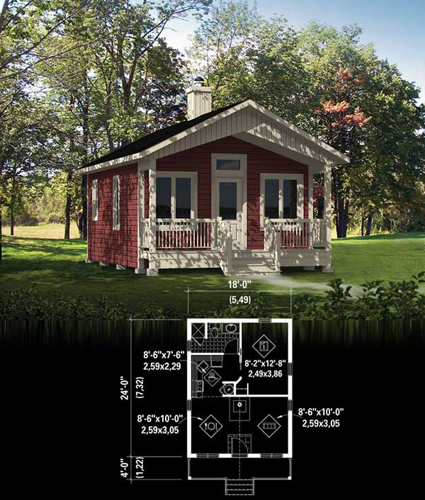 Garden Dream tiny house floor plan for building your dream home without spending a fortune. Your tiny house doesn't have to be ugly or weird - just look at these architectural masterpieces! Chose from traditional plans to mobile tiny house plans that will allow you to change your lifestyle and be free!