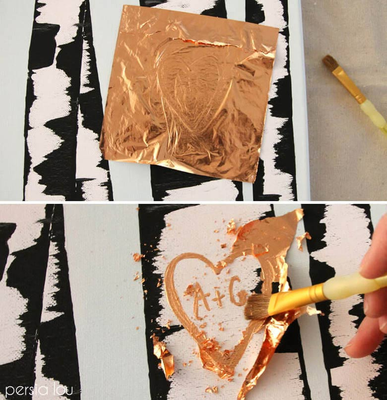 Easy canvas art ideas for beginners - Birch tree painting - Birch bark has a lovely pattern which is not hard to paint