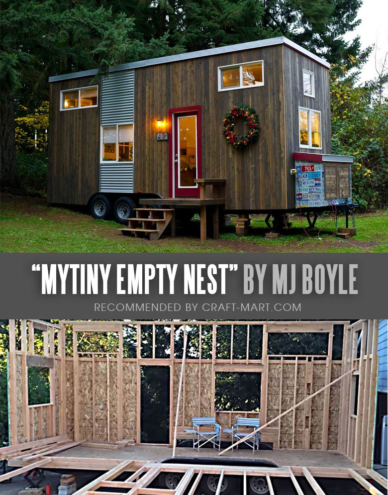 """Single Mother Builds a Tiny House Trailer to Create a Retirement plan. $35,000 and 15 months later, her first tiny home with an adorable name """"My Tiny Empty Nest"""" was completed. #tinyhouse"""