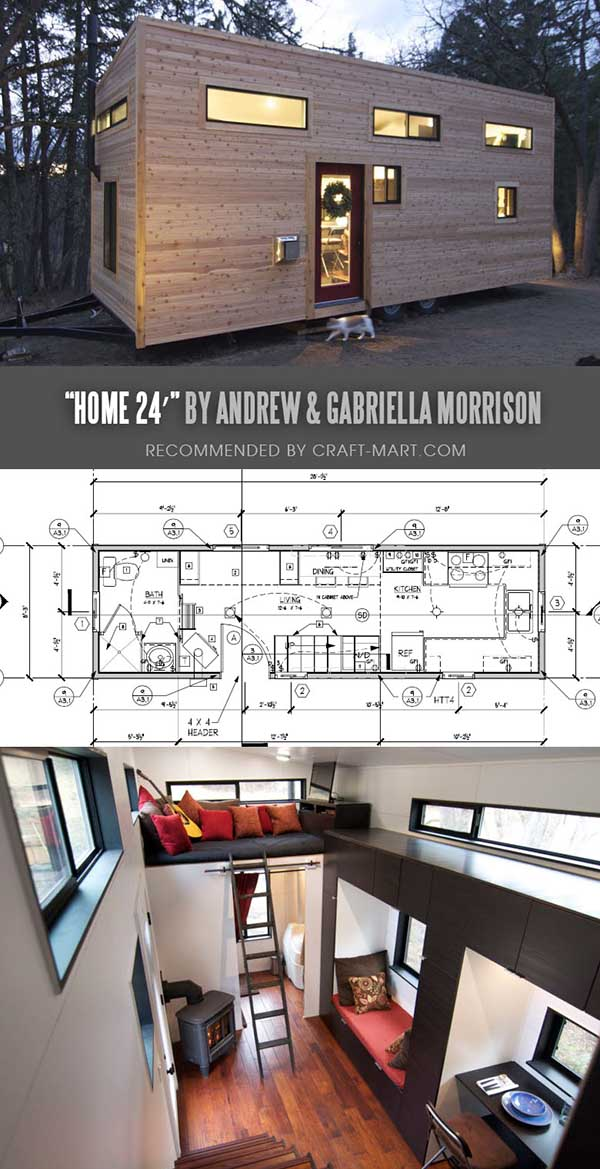 Tiny House Trailer - hOMe - a modern tiny house on wheels - One of the 17 Best Custom Tiny House Trailers and Kits with Plans, the most affordable tiny houses on wheels. You can order a shell to be built or build it yourself using this mobile tiny house plans saving thousands of dollars. #tinyhouse #tinyhouseplans #minimalism #diy