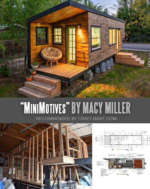 Tiny House Trailer - MiniMotives Tiny House on Wheels by Macy Miller - one of the most affordable tiny houses on wheels. You can order it to be built or build it yourself using this mobile tiny house plans. #tinyhouse