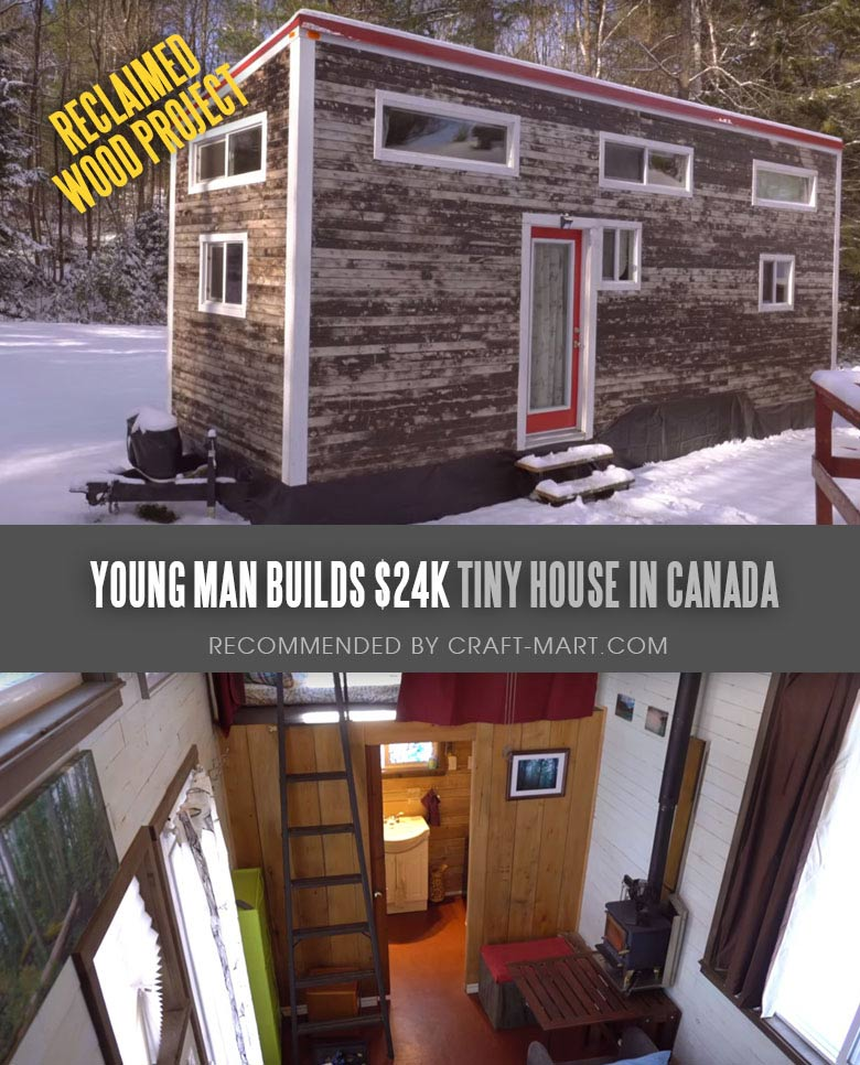 Tiny House Trailer - Miterbox -$24K Tiny House - one of the most affordable tiny houses on wheels. You can order it to be built or build it yourself using this mobile tiny house plans. #tinyhouse