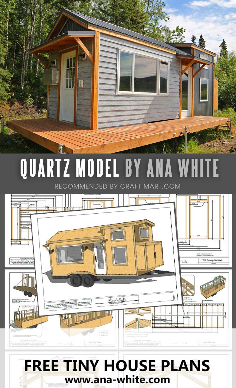 Open Concept Modern Tiny House with FREE Detailed Plans and Instructional Videos by Ana White. Tiny House Trailer - by Ana White is the best option for the beginners to start learning tiny house building steps. #tinyhouse #tinyhouseplans #minimalism #diy