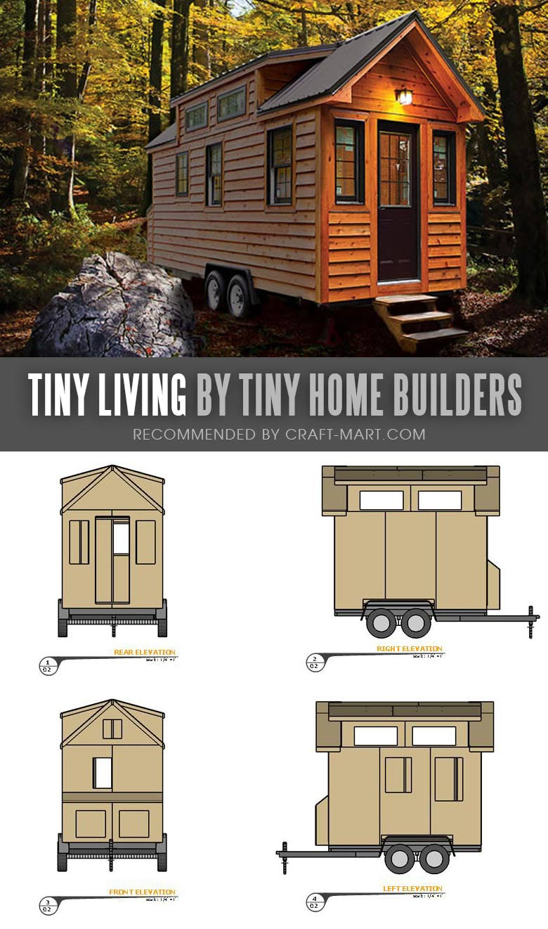 Tiny House Trailer - Tiny Living by Tiny Home Builders - Enroll in one of the Tiny Home Builders workshops and get mobile tiny house plans to save thousands of dollars. #tinyhouse #tinyhouseplans #minimalism #diy