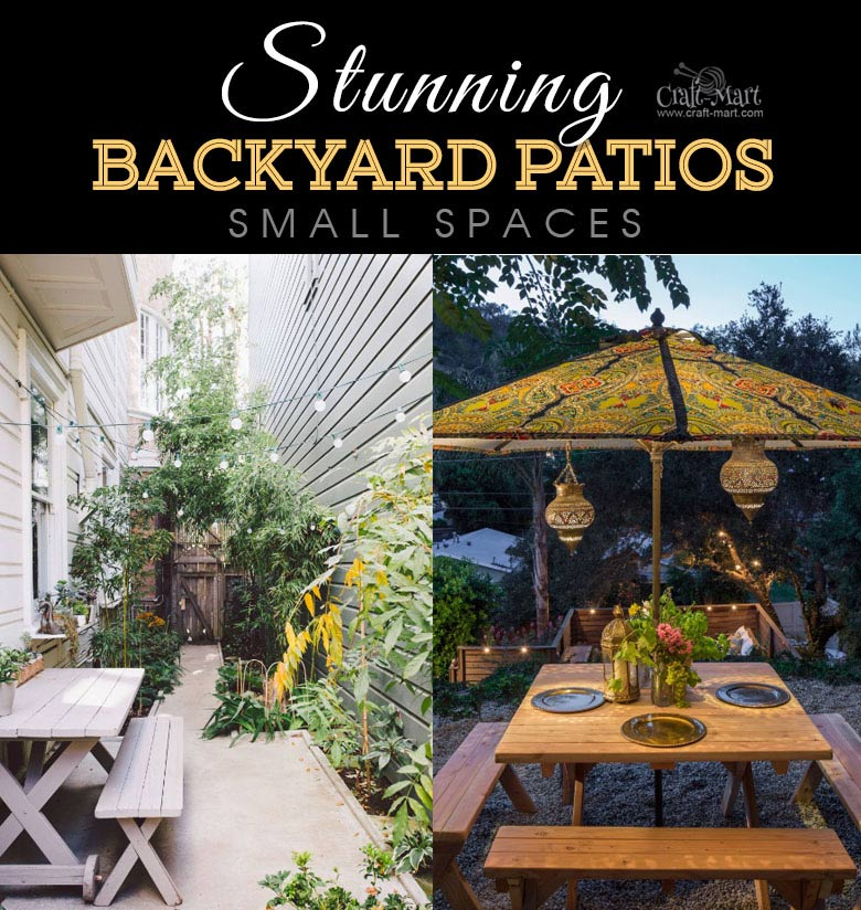 Patio Lighting Solutions For Small Spaces. One Of The Best Backyard Patio  Designs With Outdoor