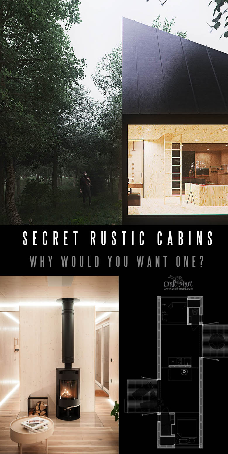 Slow Cabins Tiny House Secret Retreats with a twist. Read the post about it. #tinyhouse #tinyhouseplans #minimalism