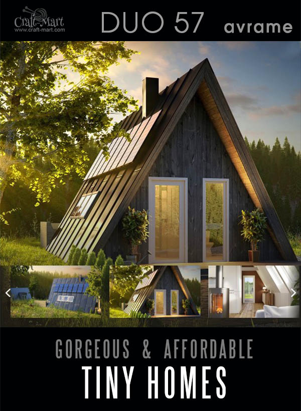 The DUO57 is a durable structure that packs a ton of smart functionality into the tiny floor plan. Yes, this tiny cute house can be off-grid and well hidden from the civilization.