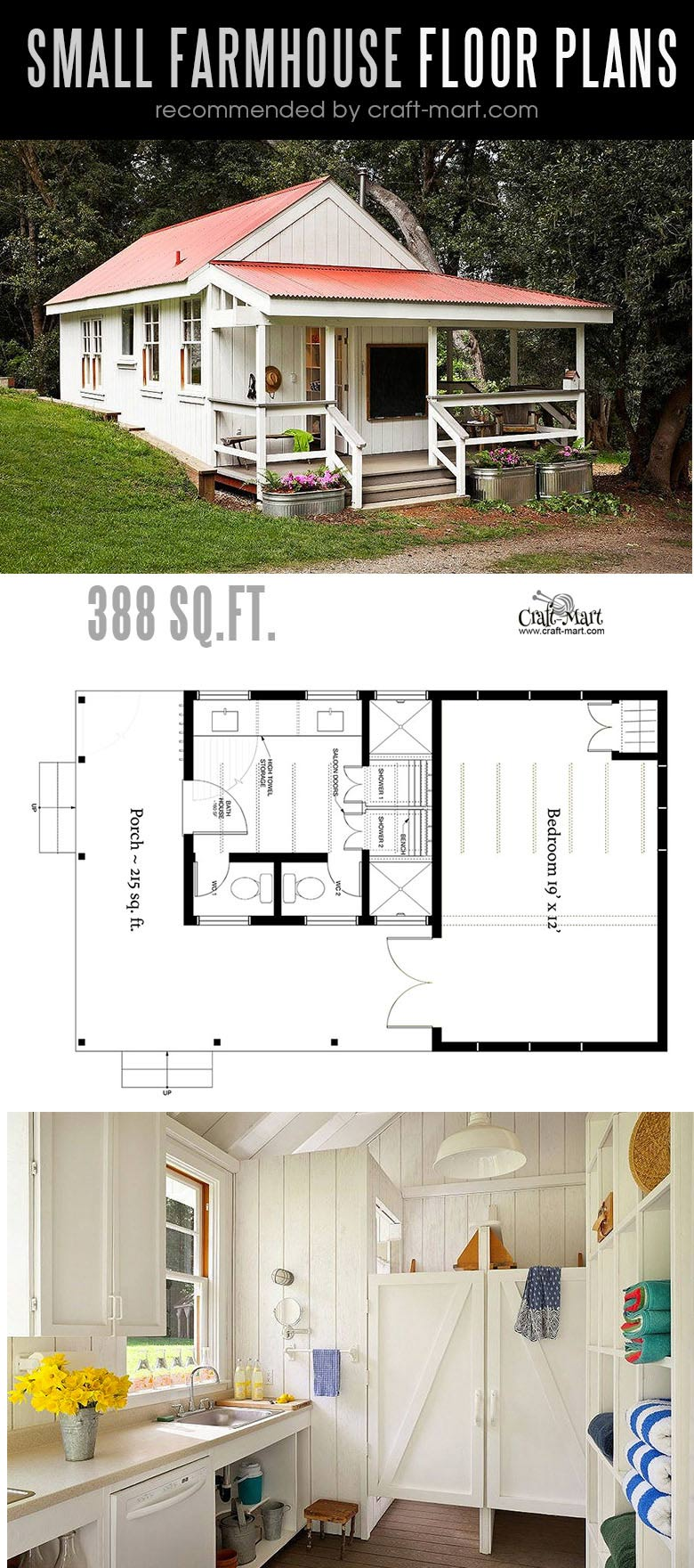 Designing and building a Farmhouse Style Summer Kitchen can be a lot of fun! Look at the best small farmhouse plans that can fit almost any tight budget. Learn how you can design the best modern farmhouse and decorate it as a pro! #tinyhouse #farmhouse #rustic #diy