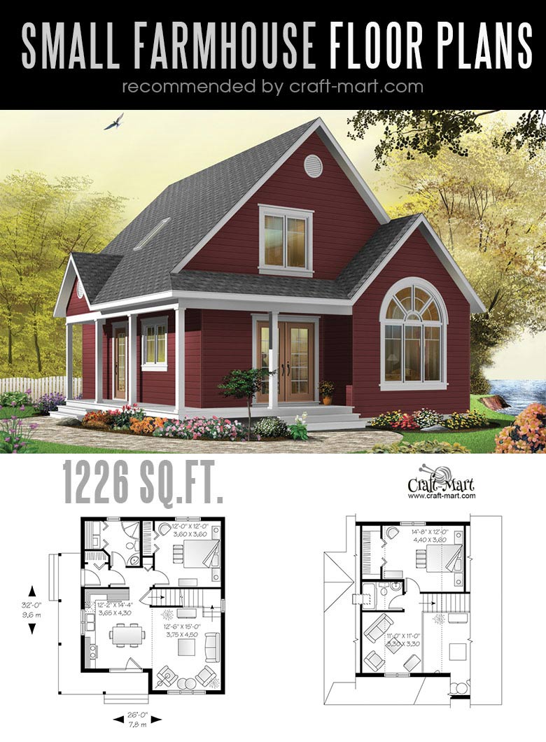 Small modern farmhouse plans for building a home of your for Small modern farmhouse