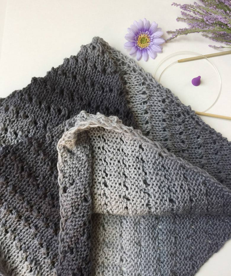 How To Knit A Triangle Shawl For Beginners Free Pattern Review