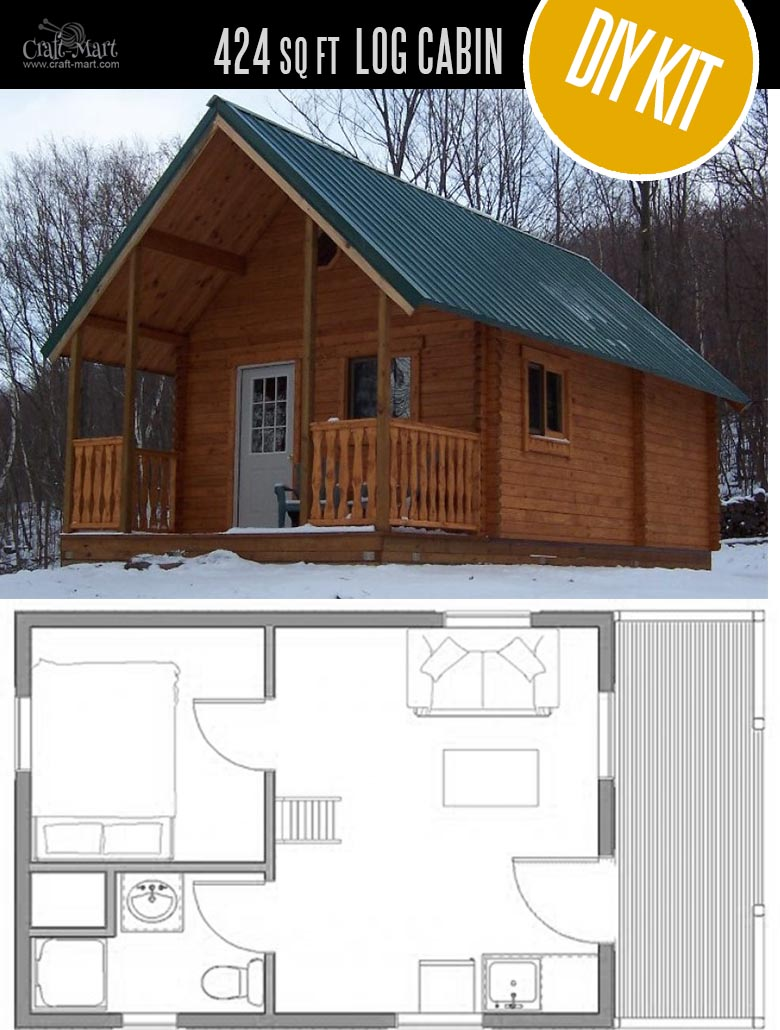 Outdoorsman Log Cabin by Conestoga Log Cabins & Homes - quality small log cabin kits and pre-built cabins that you can afford! Choose from a few options of pre-built cabins to small log cabin kits that you'll be able to assemble in 3-4 weeks saving on labor close to 1/3 of the total cost. #tinyhouses #logcabins #countryliving