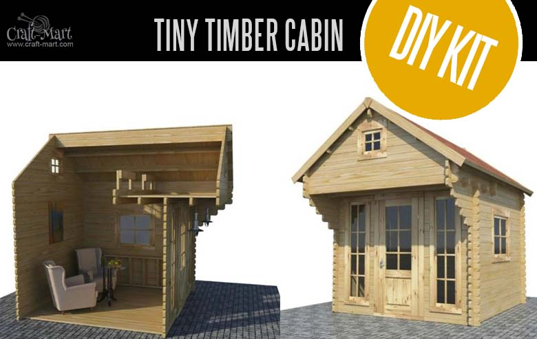Tiny Timber Solid Pine Wood Cabin Kit - quality small log cabin kits and pre-built cabins that you can afford! Super cute and easy DIY project. #tinyhouses #logcabins #countryliving