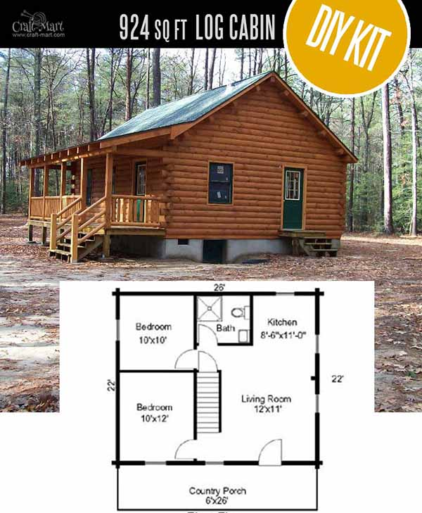 Tiny Home Designs: Tiny Log Cabin Kits
