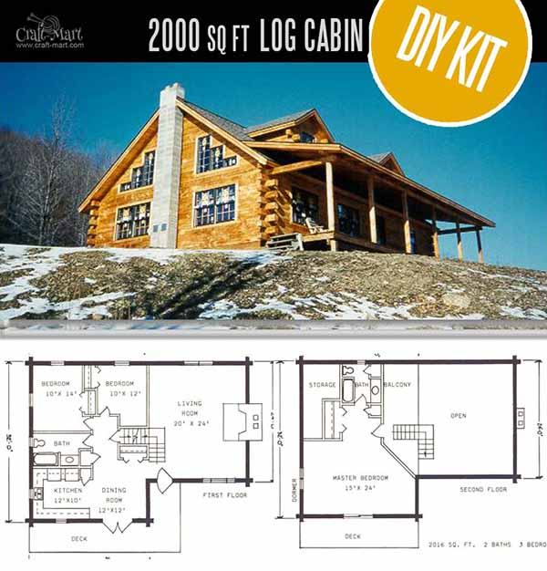 Chemung Log House by Fingerlakes Log Homes - quality log cabin homes and pre-built cabins that you can afford! Check this cabin out! 2000 SQ FT for under 45K is an amazing deal!
