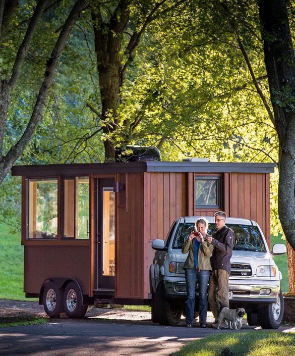Get one of these tiny houese for FREE and start earning money from renting it! Or simply buy one of the most beautiful tiny house trailers with easy financing starting from $195/m! #tinyhouse #tinyhouseplans #minimalism