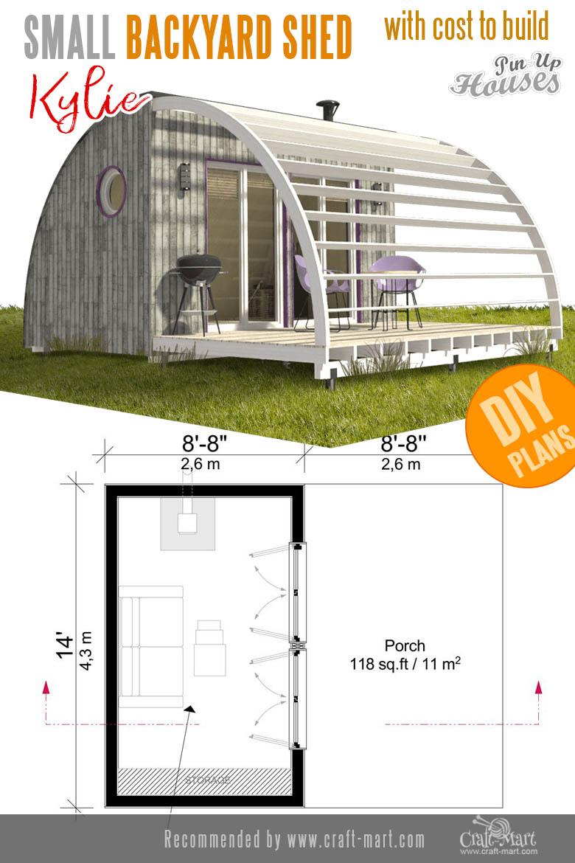 unusual backyard sheds